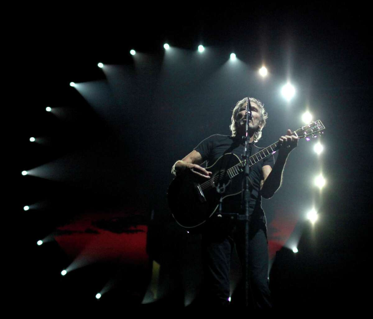 Roger Waters, a founding member of the band Pink Floyd, performs ?The Wall? Live at the Times Union Center in Albany, N.Y. on Thursday, June 28, 2012. (Dan Little / Special to the Times Union)