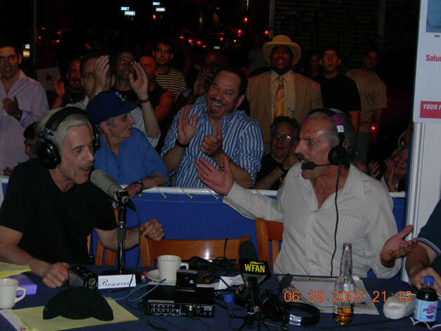 WFAN talk-show hosts Steve Somers, left, and Joe Benigno, from 2007 (Courtesy WFAN)