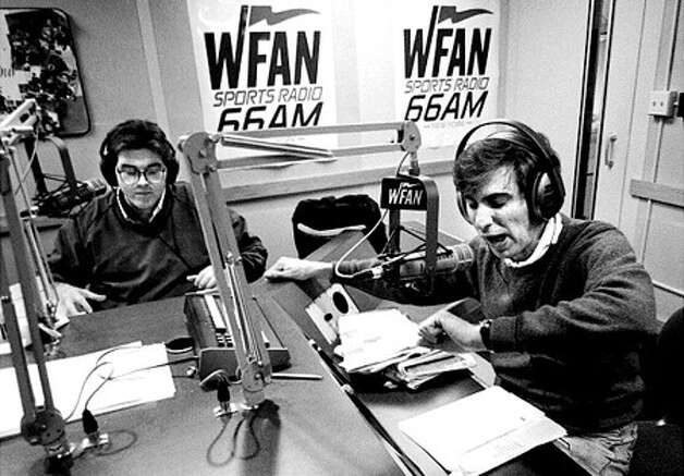 "Mike Francesa and Chris Russo from the early days of ""Mike and the Mad Dog."" (Courtesy WFAN)"