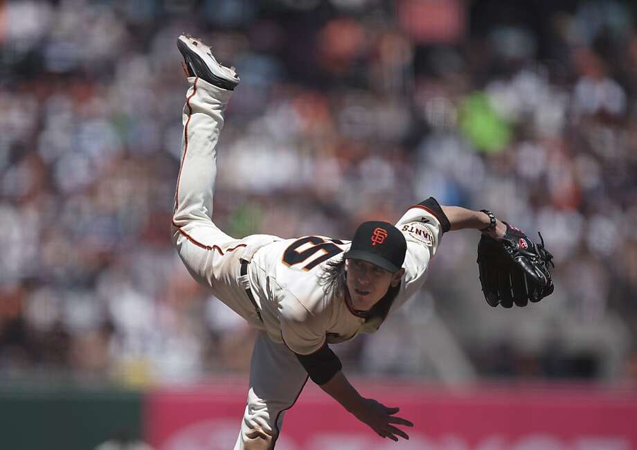 San Francisco Giants pitcher Tim Lincecum throws to a Los Angeles Dodgers batter during a baseball game Wednesday, June 27, 2012, in San Francisco. The Giants won 3-0. Lincecum won for the first time in nearly two months. (AP Photo/The Sacramento Bee, Jose Luis Villegas) MAGS OUT  TV OUT Photo: Jose Luis Villegas, Associated Press