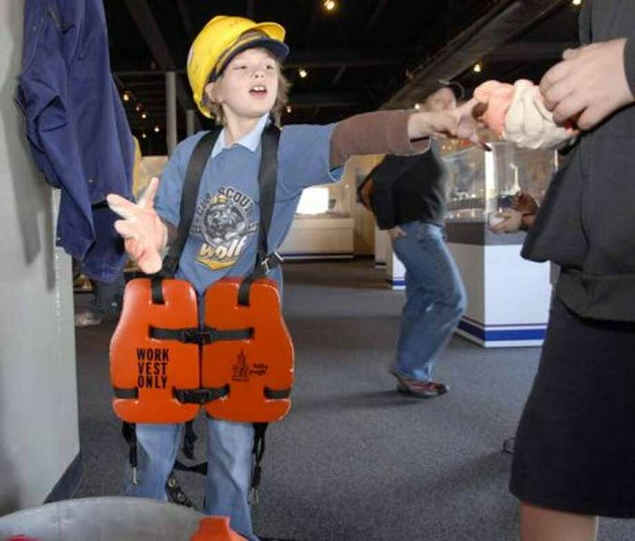 $8 ($5 for ages 7-18):A visit to the Ocean Star Offshore Energy Center, where you can tour an oil rig and kids can dress up like oil workers.   (Kim Christensen / For the Chronicle)