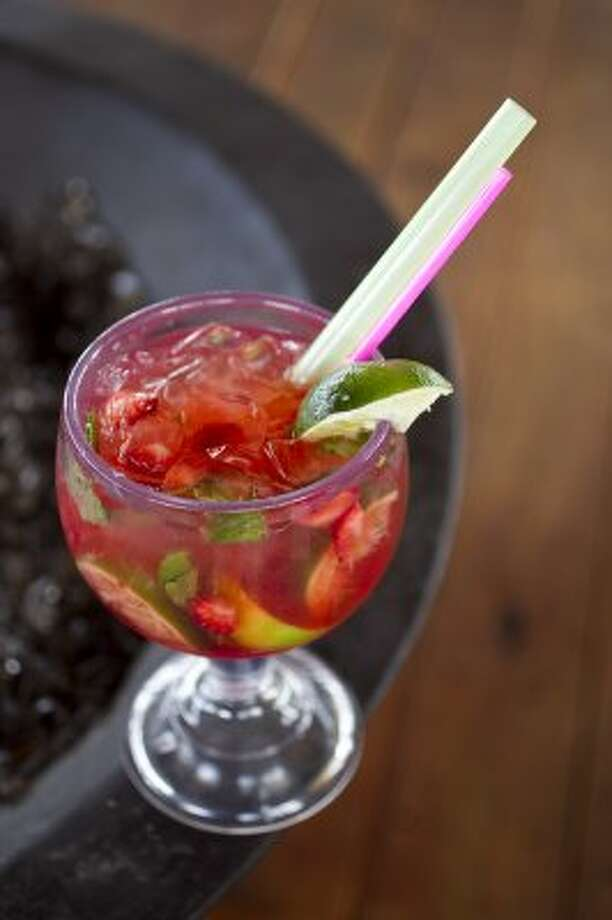 $8.50: A Strawberry Mojito at the Rum Shack. 