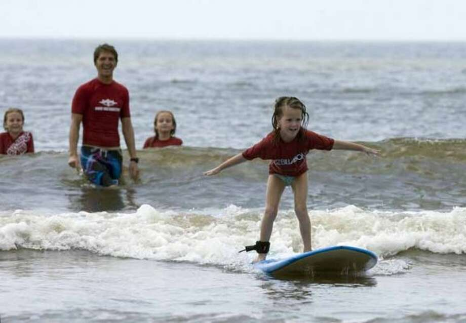 $225:For five days of kids' surf camp the Ohana Surf and Skate Shop.