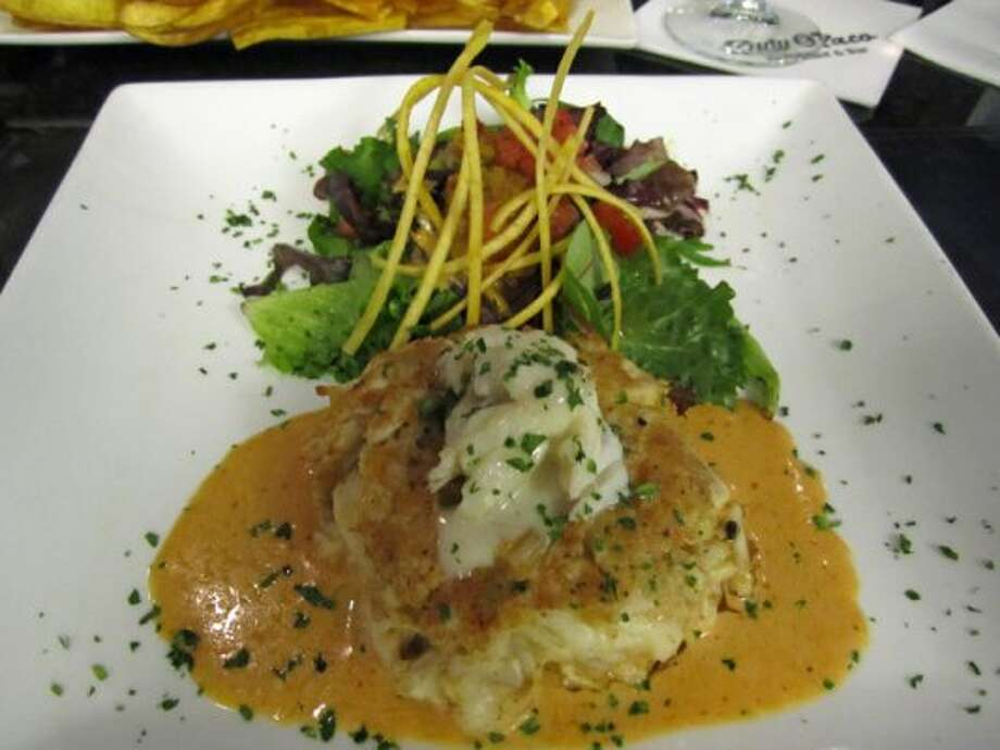 $16:  A jumbo lump crab cake at Rudy & Paco's. (Syd Kearney / Houston Chronicle)