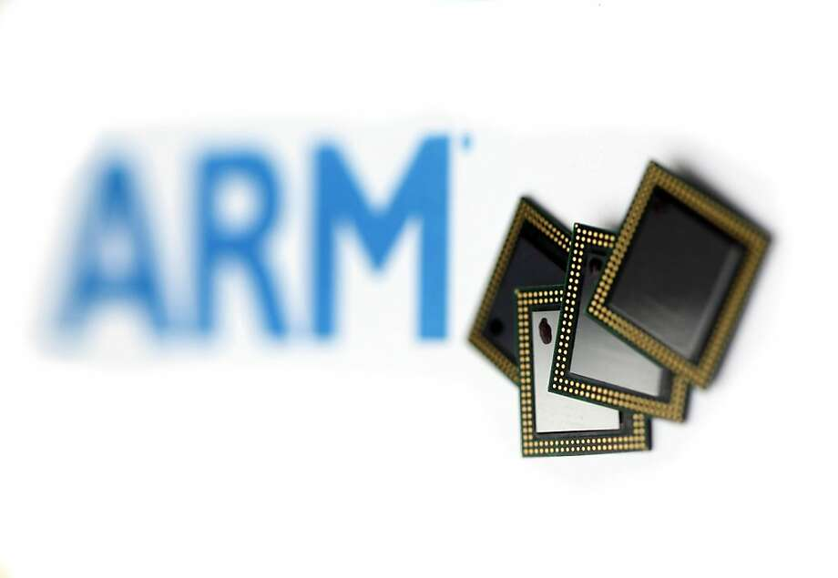 ARM Tegra 2 microprocessor chips, manufactured by Nvidia Corp., sit on display at the ARM Holdings Plc headquarters in Cambridge, U.K., on Wednesday, March 16, 2011. ARM Holdings Plc's stock has rallied so fast that the designer of chips that help power Apple Inc.'s iPhone is now the most expensive takeover target in the semiconductor industry since 2006. Photographer: Chris Ratcliffe/Bloomberg Photo: Chris Ratcliffe, Bloomberg