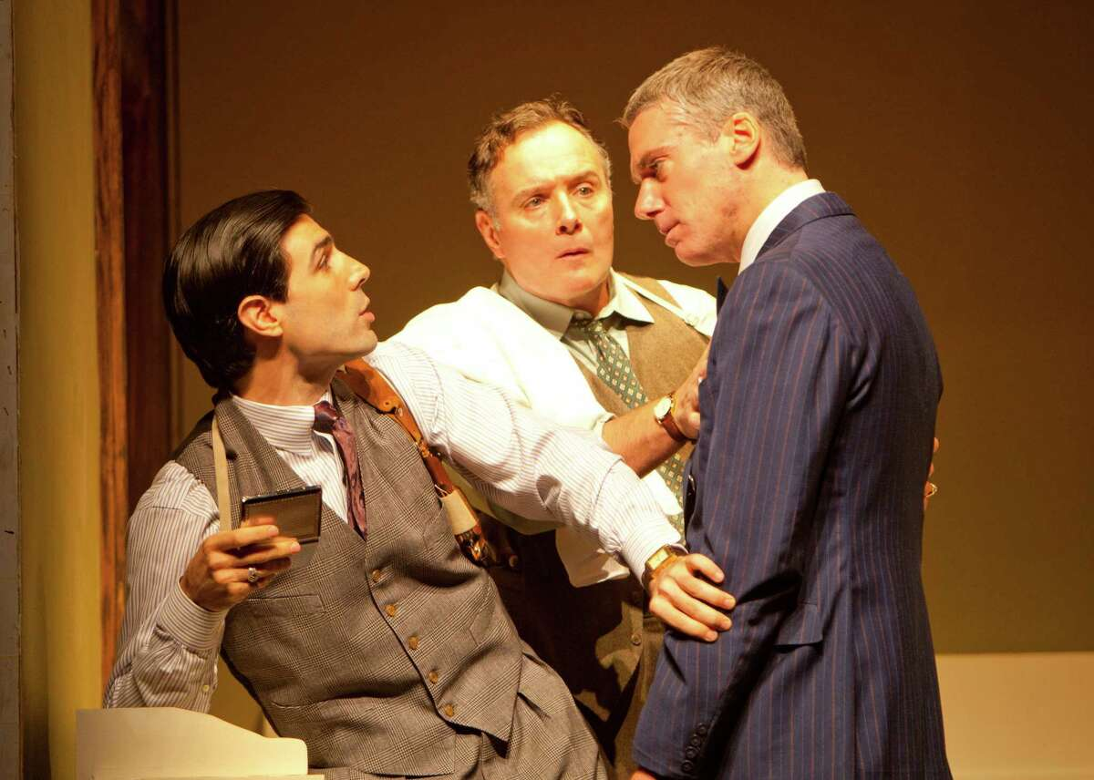 Louis Cancelmi, Sean Cullen, and Glenn Fitzgerald in a scene from The Importance of Being Earnest. Photo by T. Charles Erickson Oscar Wilde, directed by David Hyde Pierce at Williamstown Theatre Festival 6/26/12 Set Design: Allen Moyer Costume Design: Michael Krass Lighting Design: Ben Stanton © T Charles Erickson http://pa.photoshelter.com/c/tcharleserickson tcepix@comcast.net