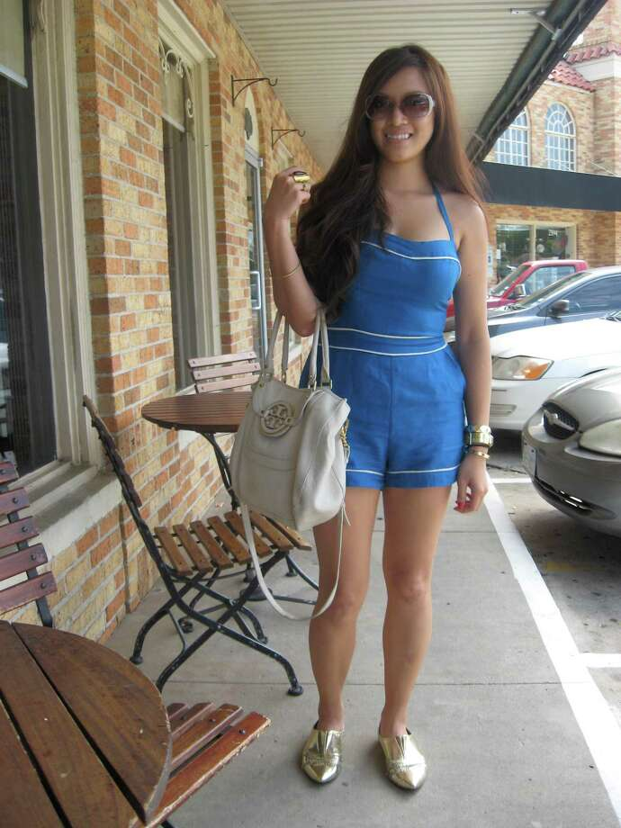 Who: Hannah Hoang, 25 Where: Rao s Bakery One thing you do for fun: I m stopping at Rao s on our way from Houston to New Orleans. Your style: Pretty eclectic and classic at the same time. Wearing: Forever 21 romper, shoes and knuckle ring, Mui Mui shades, Tory Burch bag, jewelry is vintage and Dolce & Gabbana Oh, and one more thing: We re going to New Orleans for vacation to eat, drink and gamble. Photo: Grace Mathis/cat5