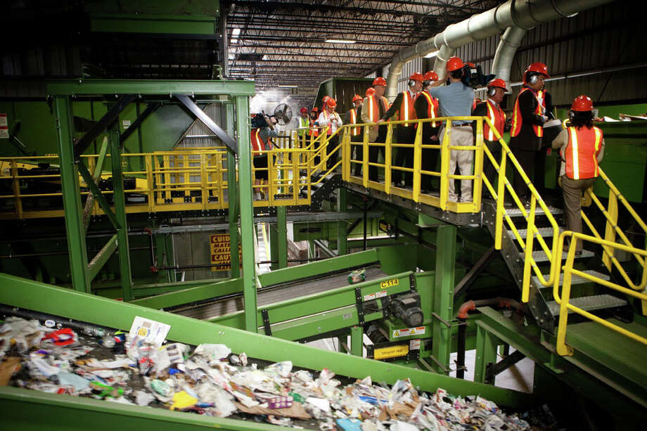 The Materials Recycling Facility in Johnston, RI, which features upgraded recycling technology provided by Stamford company Van Dyk Recycling Solutions. The facility held its official ribbon cutting earlier this month. Photo: Contributed Photo / Stamford Advocate Contributed