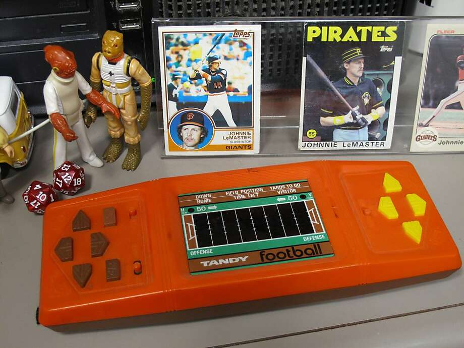 The Tandy Football game from Radio Shack, a two-person handheld electronic football game from 1981. Critic Peter Hartlaub spent way too much time playing this in his pre-teen years. Photo: Peter Hartlaub, The Chronicle