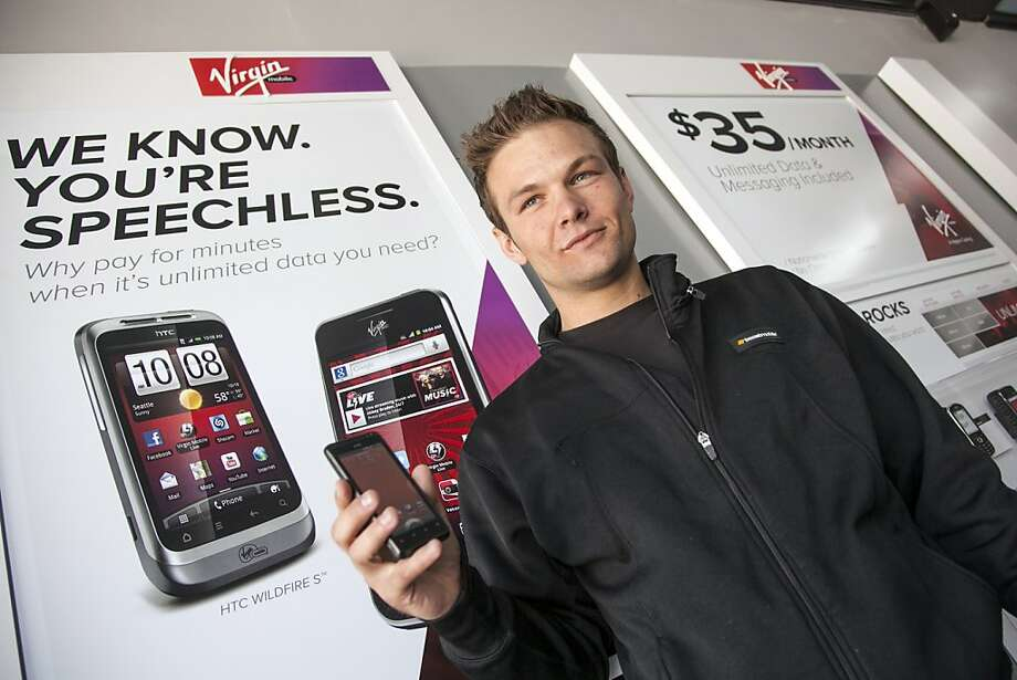 Virgin Mobile is an attractive choice for basic cell phones, with monthly plans that start at $20. Photo: Damian Dovarganes, Associated Press
