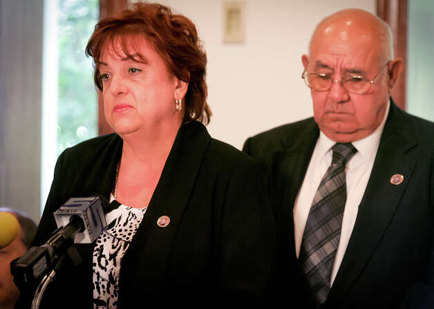 Mary and Amador Zapata, the parents of slain Immigration Customs and Enforcement agent Jaime Zapata, appear during a news conference on Friday, June 29, 2012, in Brownsville, Texas. The families of the two U.S. immigration agents shot more than a year ago on a Mexican highway renewed their demand Friday that the U.S. government explain the decisions that put them there and answer questions about how guns purchased in the U.S. fell into the hands of their attackers. Photo: AP