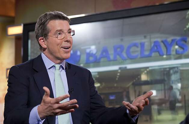"Robert ""Bob"" Diamond, chief executive officer of Barclays Plc, speaks during a television interview in Hong Kong, China, on Wednesday, June 13, 2012. Diamond said the euro region will survive even as the debt crisis slows economic growth and weakens the currency. Photographer: Jerome Favre/Bloomberg *** Local Caption *** Robert Diamond Photo: Jerome Favre, Bloomberg"