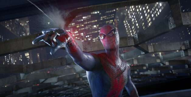 "Andrew Garfield stars as Spider-Man in Columbia Pictures' ""The Amazing Spider-man,"" also starring Emma Stone. Photo: Courtesy Of CTMG./ImageMagick"