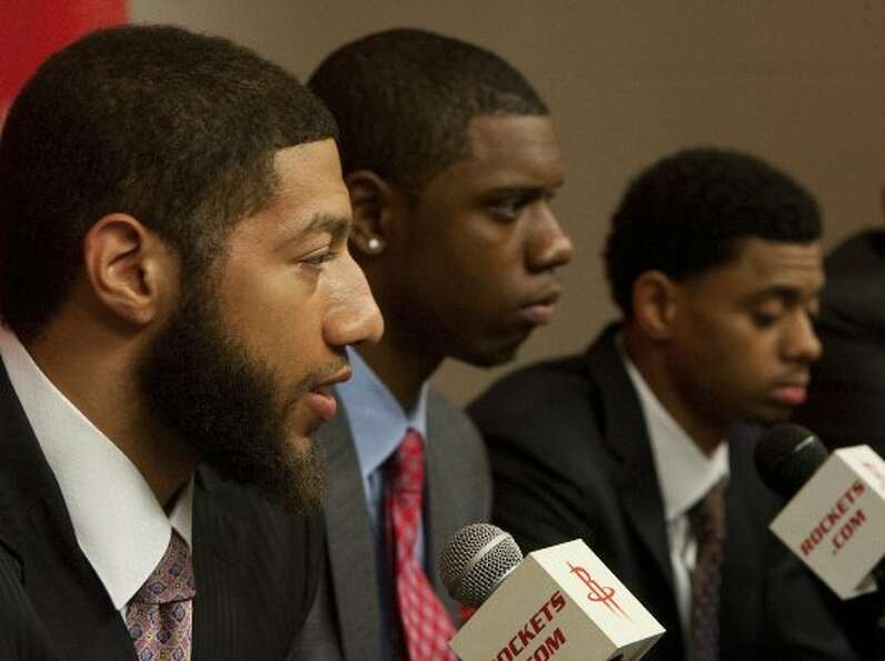 (From left) Iowa State forward Royce White, Kentucky forward Terrence Jones and Connecticut guard Je