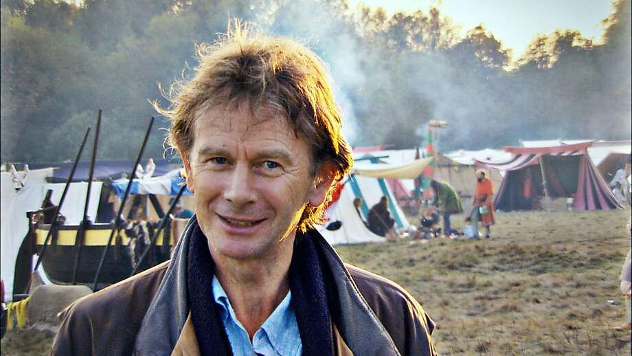 Michael Wood at the Battle of Hastings re-enactment day Photo: Maya Vision, BBC