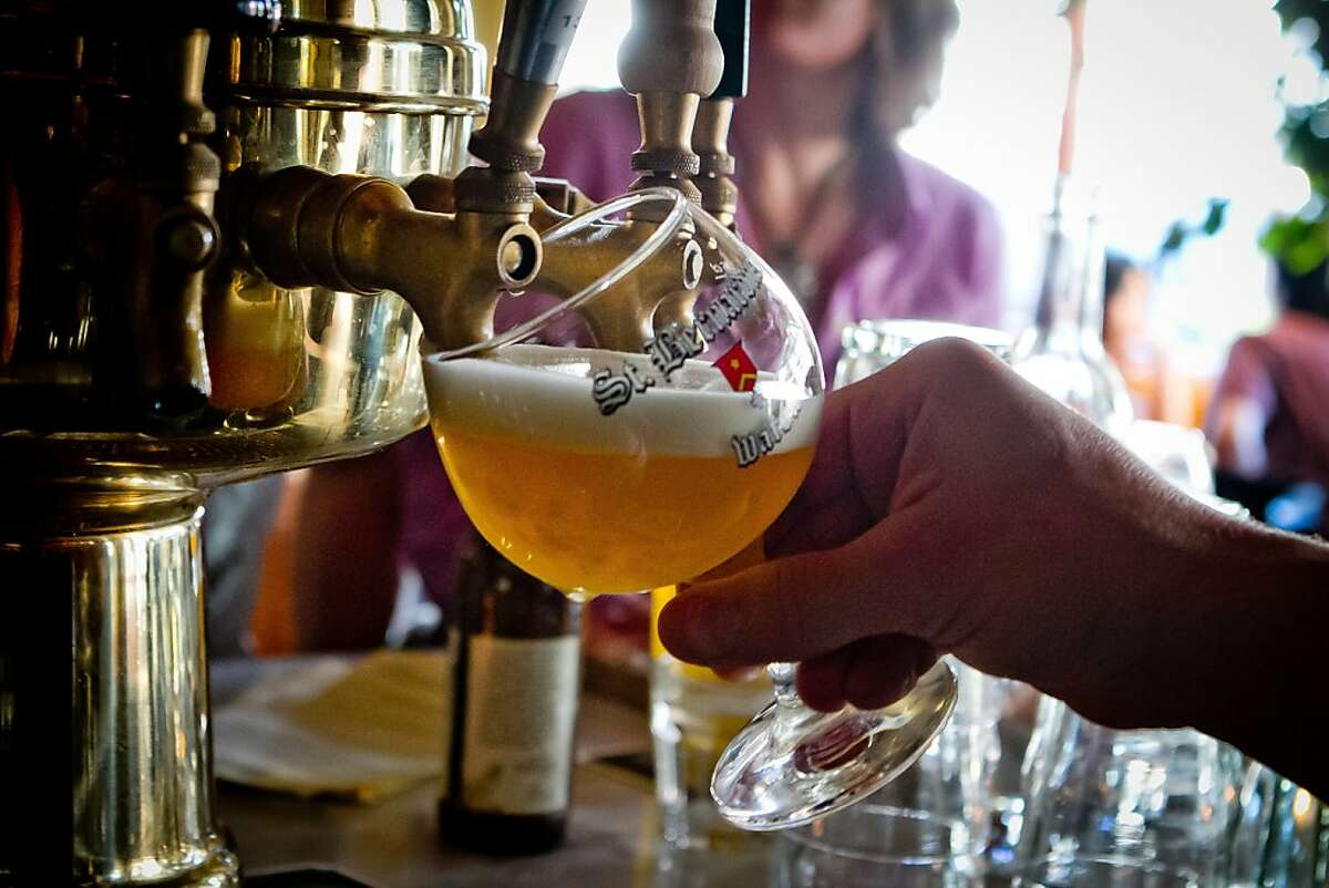 Beer being poured from the tap at Fat Angel in San Francisco, Calif., on Wednesday, June 20th, 2012.