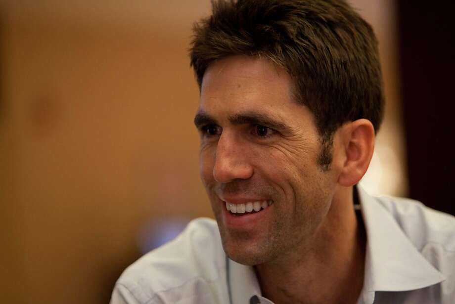 Golden State Warriors General Manager Bob Myers speaks during an interview on Thursday, June 7, 2012, at the NBA draft combine in Chicago. Photo: Jeff Cagle, Special To The Chronicle