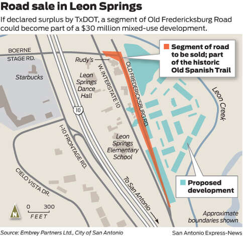 If declared surplus by TxDOT, a segment of Old Frederickdburg Road could become part of a $30 million mixed-use development. Photo: Mike Fisher