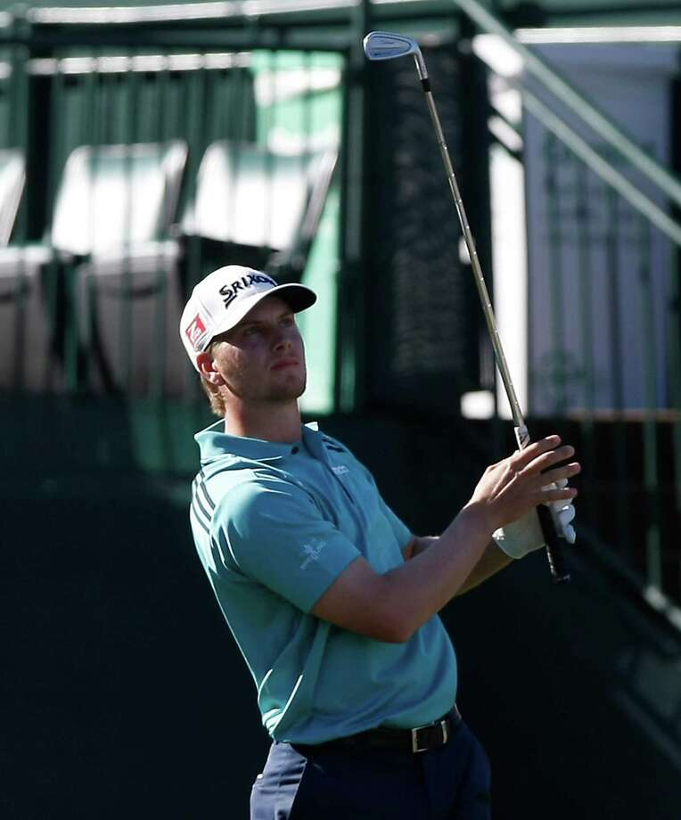 Chris Stroud tees off at the 16th hole during the final round of the Phoenix Open golf tournament on Sunday, Feb. 5, 2012, in Scottsdale, Ariz. (AP Photo/Rick Scuteri) Photo: (AP Photo/Rick Scuteri), FRE / FR157181 AP