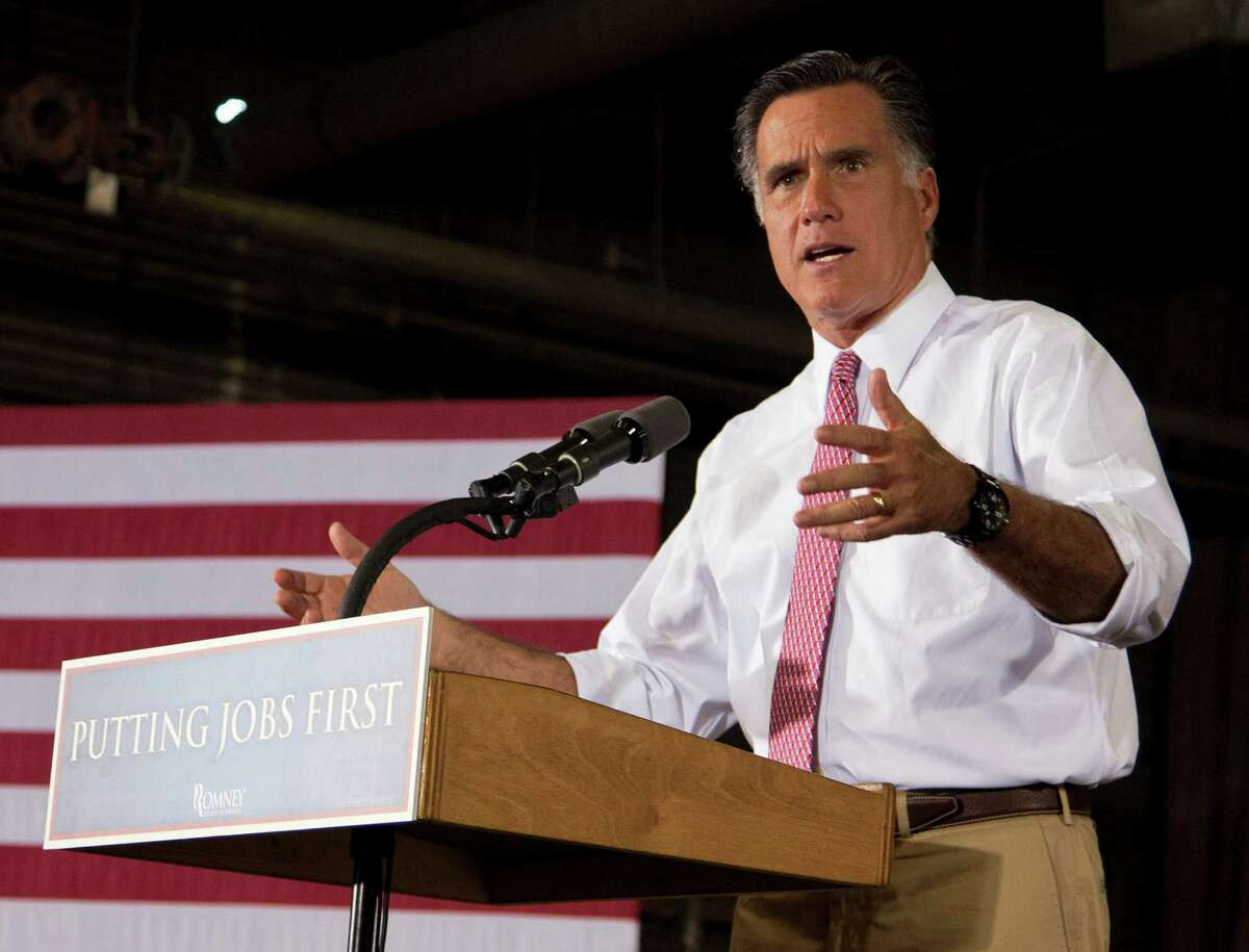 FILE - In this June 14, 2012 file photo, Republican presidential candidate, former Massachusetts Gov. Mitt Romney speaks in Cincinnati, Ohio. Turned away at the Supreme Court, congressional Republicans sketch a filibuster-proof strategy to repeal the nation's health care law in 2013. But it hinges on two uncertainties _ Mitt Romney capturing the White House and the party seizing even narrow control of the Senate. (AP Photo/Evan Vucci, File)