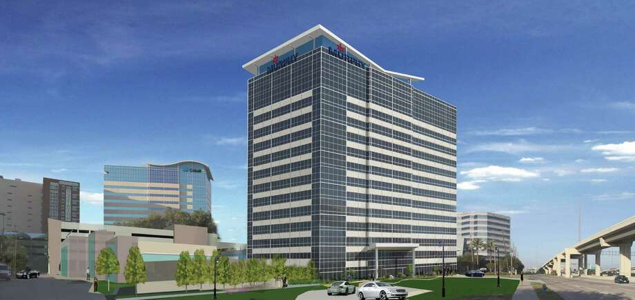 This rendering shows MetroNational's proposed 14-story tower for the Memorial City area. Photo: Peter.orolfo