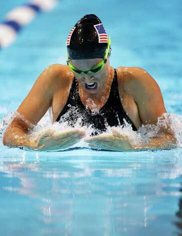 Amanda Beard swims in the women's 200-meter breaststroke preliminaries at the U.S. Olympic swimming trials, Friday, June 29, 2012, in Omaha, Neb. (AP Photo/Mark Humphrey) Photo: Associated Press