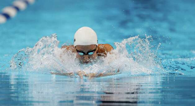 Rebecca Soni swims in the women's 200-meter breaststroke preliminaries at the U.S. Olympic swimming trials, Friday, June 29, 2012, in Omaha, Neb. (AP Photo/Mark Humphrey) Photo: Associated Press