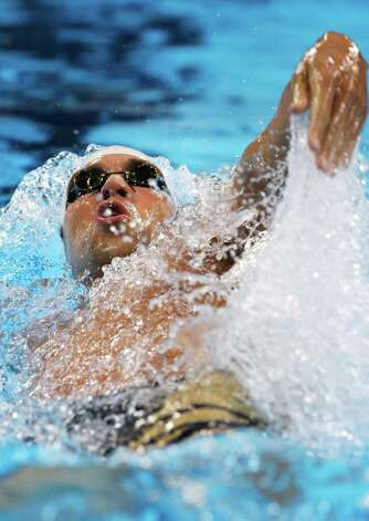 Matt Grevers swims in the men's 200-meter backstroke preliminaries at the U.S. Olympic swimming trials on Friday, June 29, 2012, in Omaha, Neb. (AP Photo/Mark Humphrey) Photo: Associated Press