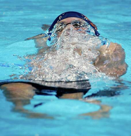 Ryan Murphy swims in the men's 200-meter backstroke preliminaries at the U.S. Olympic swimming trials on Friday, June 29, 2012, in Omaha, Neb. (AP Photo/Mark Humphrey) Photo: Associated Press