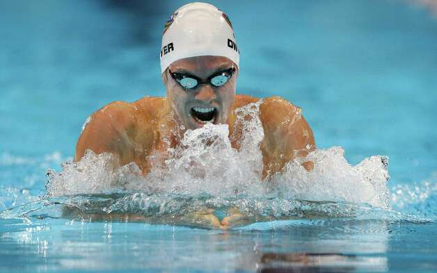 Conor Dwyer swims in the men's 200-meter individual medley preliminaries at the U.S. Olympic swimming trials on Friday, June 29, 2012, in Omaha, Neb. (AP Photo/Mark Humphrey) Photo: Associated Press
