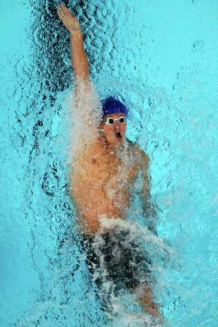 Ryan Lochte swims in a men's 200-meter backstroke semifinal at the U.S. Olympic swimming trials, Friday, June 29, 2012, in Omaha, Neb. (AP Photo/Nati Harnik) Photo: Associated Press