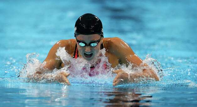 Rebecca Soni swims in a women's 200-meter breaststroke semifinal at the U.S. Olympic swimming trials on Friday, June 29, 2012, in Omaha, Neb. (AP Photo/Mark Humphrey) Photo: Associated Press