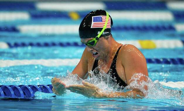 Amanda Beard swims in a women's 200-meter breaststroke semifinal at the U.S. Olympic swimming trials, Friday, June 29, 2012, in Omaha, Neb. (AP Photo/Mark J. Terrill) Photo: Associated Press
