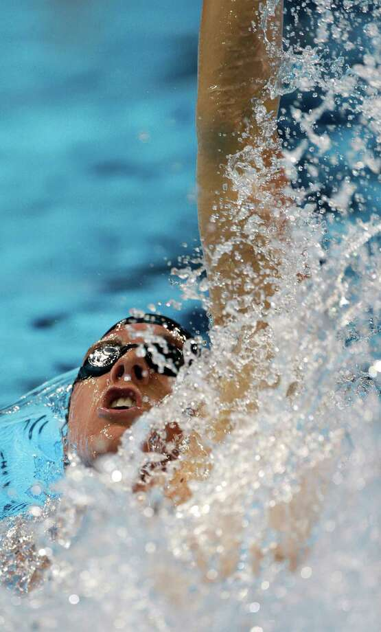 Conor Dwyer swims in a men's 200-meter individual medley semifinal at the U.S. Olympic swimming trials on Friday, June 29, 2012, in Omaha, Neb. (AP Photo/Mark Humphrey) Photo: Associated Press