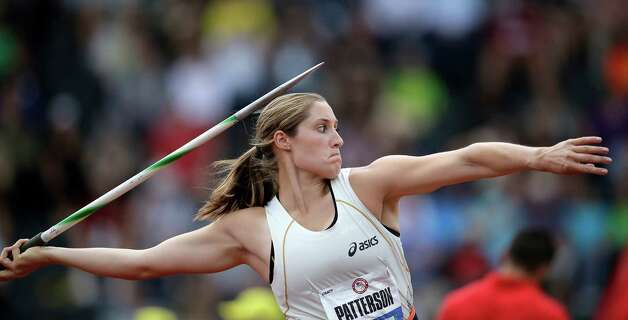 Kara Patterson competes in the women's javelin qualifying round at the U.S. Olympic Track and Field Trials Friday, June 29, 2012, in Eugene, Ore. (AP Photo/Matt Slocum) Photo: Associated Press
