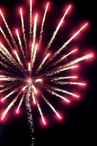 Fireworks are the main attraction on Friday, June 29, 2012, at Freedom Park in Scotia, N.Y. (Cindy Schultz / Times Union) Photo: Cindy Schultz / 00018293A