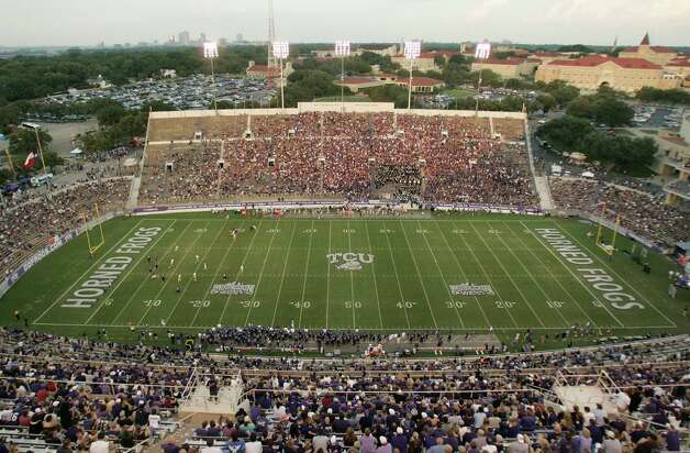 TCU was able to give Amon G. Carter Stadium, shown during a 2010 game, a $164 million facelift. Photo: Mike Fuentes, Associated Press