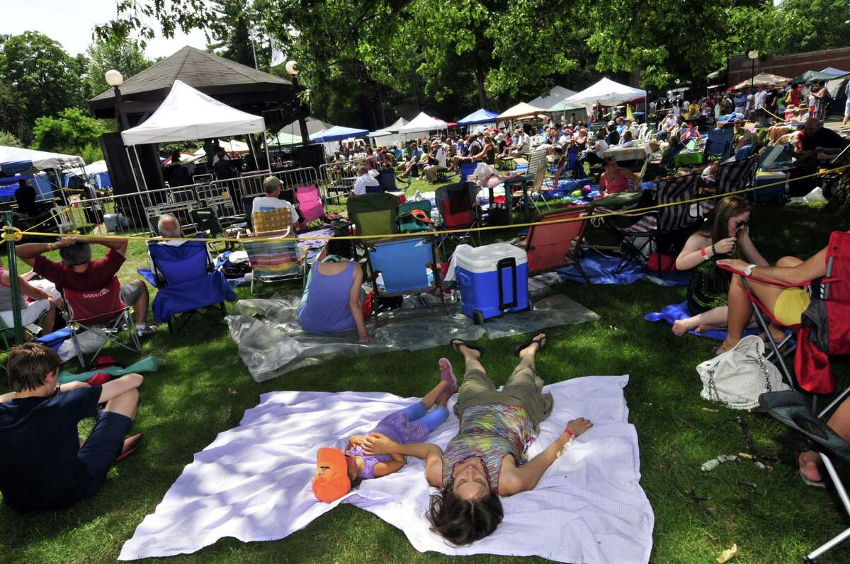 It was a day to lounge about and listen to cool jazz as Jeremy Pelt leads his Quintet on the gazebo stage during the 35th Freihofer's Saratoga Jazz Festival at SPAC in Saratoga Springs N.Y. Saturday June 30, 2012. (Michael P. Farrell/Times Union)