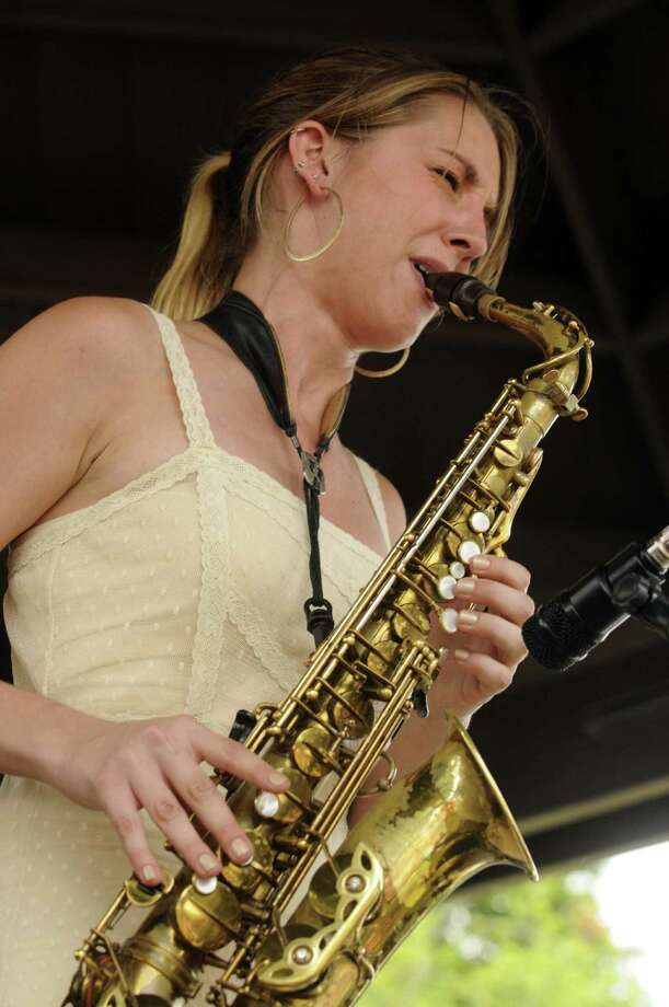 Saxophonist Hailey Niswanger performs with her group on the gazebo stage during the 35th Freihofer's Saratoga Jazz Festival at SPAC in Saratoga Springs N.Y. Saturday June 30, 2012. (Michael P. Farrell/Times Union) Photo: Michael P. Farrell