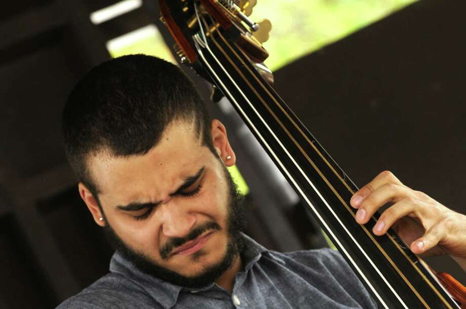 Bassist Max Moran  performs with the Hailey Niswanger group on the gazebo stage during the 35th Freihofer's Saratoga Jazz Festival at SPAC in Saratoga Springs N.Y. Saturday June 30, 2012. (Michael P. Farrell/Times Union) Photo: Michael P. Farrell