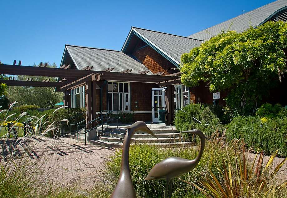 The exterior of the Tiburon Library. Residents in Tiburon upset that a $15 million, privately funded library addition will block views of historic St. Hilary Church in Tiburon, Calif., on Thursday, June 28th, 2012. Photo: John Storey, Special To The Chronicle