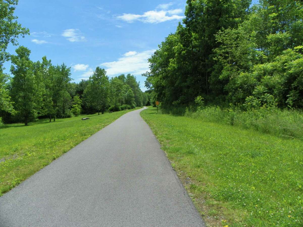 The recently entended 9-mile Zim Smith Trail runs from Ballston Spa to Clifton Park. A woman was attacked on the trail in Malta Sept. 26, 2020. (Jackson Wang/Special Times Union)