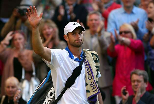 LONDON, ENGLAND - JUNE 30:  Andy Roddick of the USA walks off court after being defeated in his Gentlemen's Singles third round match against David Ferrer of Spain  on day six of the Wimbledon Lawn Tennis Championships at the All England Lawn Tennis and Croquet Club at Wimbledon on June 30, 2012 in London, England.  (Photo by Clive Brunskill/Getty Images) Photo: Clive Brunskill, Getty Images