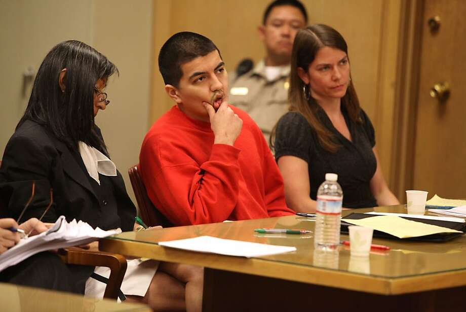 Edwin Ramos, 25, who shot and killed three members of the Bologna family in 2008, listens to his sentence of life in prison without the possibility of parole. Photo: Liz Hafalia, The Chronicle