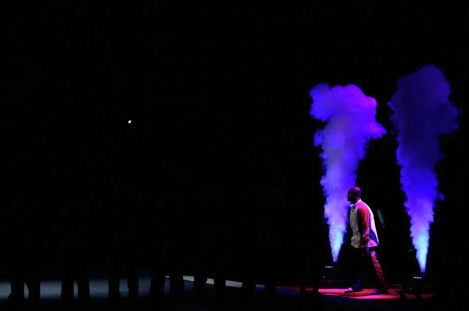 John Orozco is introduced before start of competition on day 3 of the 2012 U.S. Olympic Gymnastics Team Trials at HP Pavilion on June 30, 2012 in San Jose, Calif. Photo: Ezra Shaw, Getty Images / 2012 Getty Images
