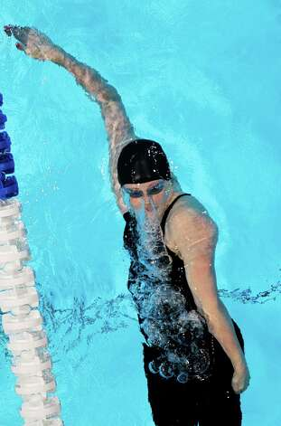 Missy Franklin swims in the women's 200-meter backstroke preliminaries at the U.S. Olympic swimming trials, Saturday, June 30, 2012, in Omaha, Neb. (AP Photo/Nati Harnik) Photo: Associated Press