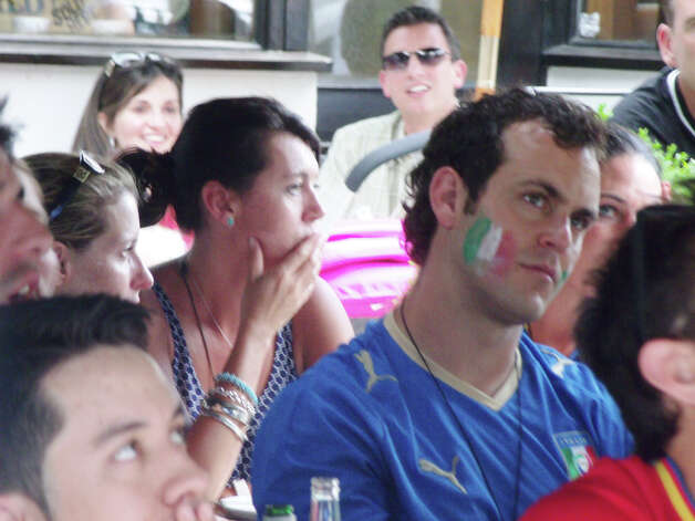 Were you seen in Stamford at Capriccio Cafe for the Euro 2012 Finals on Sunday? Photo: Todd Tracy / Connecticut Post