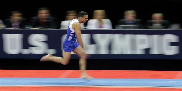 Danell Leyva makes his approach to the vault during the preliminary round of the men's Olympic gymnastics trials Thursday, June 28, 2012, in San Jose, Calif.  (AP Photo/Jae C. Hong) Photo: Associated Press