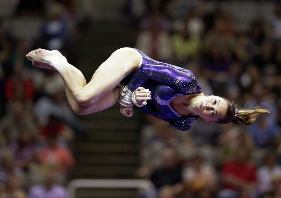 McKayla Maroney performs in the floor exercise event during the preliminary round of the women's Olympic gymnastics trials, Friday, June 29, 2012, in San Jose, Calif. (AP Photo/Jae C. Hong) Photo: Associated Press