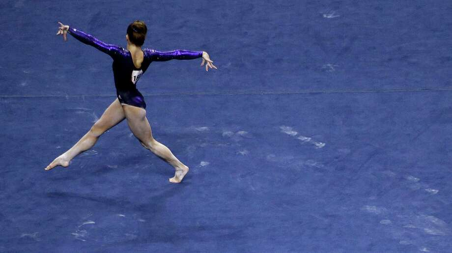 Mckayla Maroney performs her floor exercise routine during the preliminary round of the women's Olympic gymnastics trials, Friday, June 29, 2012, in San Jose, Calif. (AP Photo/Jae C. Hong) Photo: Associated Press